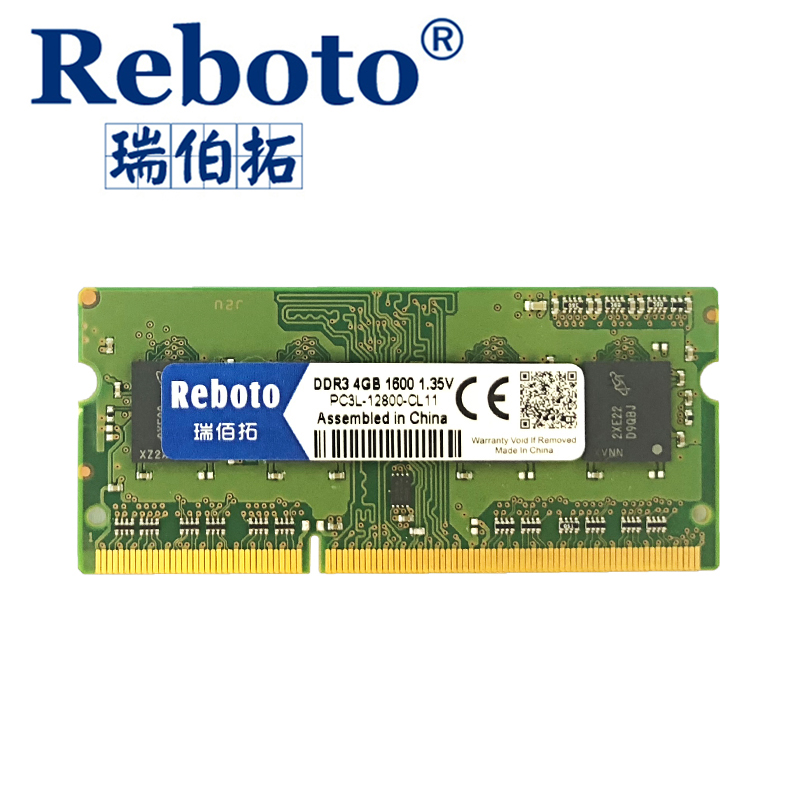Reboto DDR3L 4GB 8GB1600MHZ  PC3L-12800S low voltage 1.35V CL11 SODIMM 204pin Memory Ram For Laptop Notebook adata ddr3 1600 2g so dimm 2gb memory module storage ram for notebook laptop