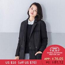 A nova jaqueta de inverno das Mulheres INMAN fita colagem meninas longo casaco quente