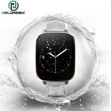 "Holdream l10 smart watch hrm h eart rate monitor mtk2502บลูทูธ4.0 ip65สายหนังแท้1.54 ""hd screen smartwatch"
