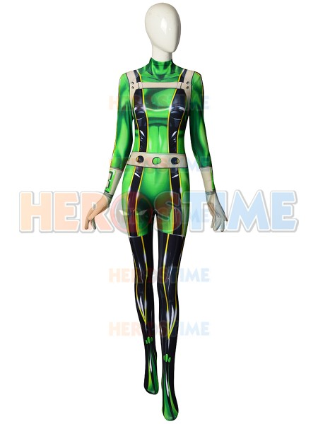 Green Froppy Costume Boku no Hero Academia Cosplay Costume Spandex Tight Body Suit Custom Made