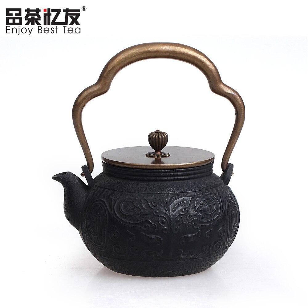Co color cast cookware - Environmental Cast Iron Pot Uncoated Teapot Southern Japan Japanese Big Iron Kettle Pots 900ml 2