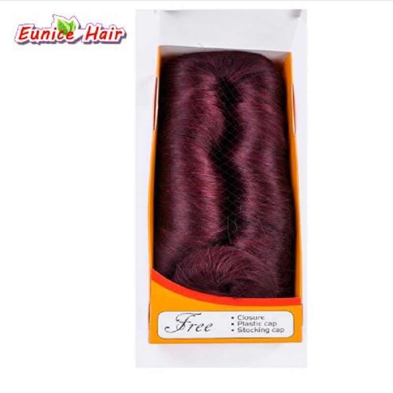 Eunice 28 pz/pacco 3-5 pollice Breve Rettilineo Cucire nell'estensione anteriore del merletto parrucche dei capelli umani