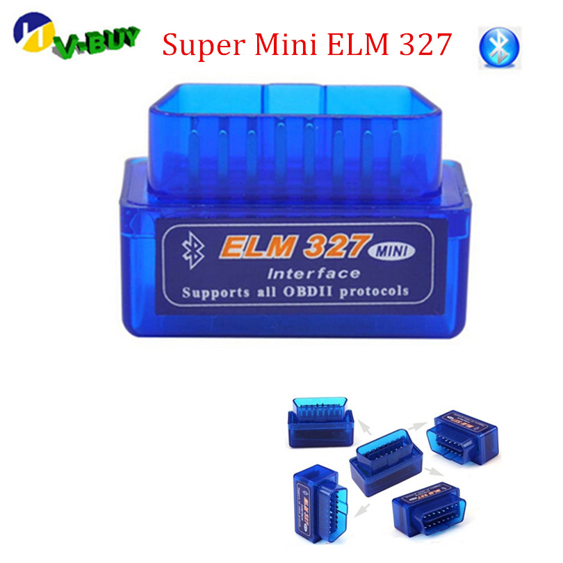 2019 Lowest Price Super Mini ELM 327 Bluetooth OBD IIOBD2 Auto Diagnostic Tools With Free Shipping
