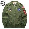Nuevos Hombres de EE.UU. NASA Pacth Bombardero Chaqueta Delgada Estilo de Lujo A Prueba de Viento Bordado Hombres Chaqueta de Piloto de la Fuerza Aérea Militar Chaqueta Táctica