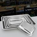 Нержавеющая сталь лоток прямоугольный hotel посуда тарелка рыбы барбекю поднос плиты