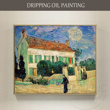 Artist Reproduce High Quality Van Gogh Oil Painting Hand-painted Impression Landscape The White House at Night