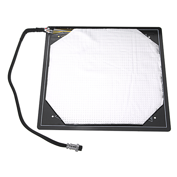 Funssor  Aluminum Heated Bed12V 310*310*3MM Aluminium PCB Heatbed With Insulation Cotton For Creality Cr-10s 3d Printer