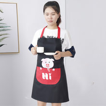 Cute Pig Waterproof Apron Kitchen Anti-fouling and Oil-proof Adult Protective Gowns Sleeveless Overalls(China)