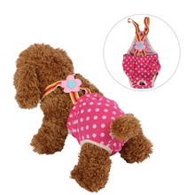 Dots Washable Female Dog Shorts Panties Menstruation Underwear Briefs Pet Large Dog Diaper Sanitary Physiological Pants XXS-XL