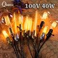 40 w Luzes de Teto 110 V Lampada Filamento da Lâmpada E27 Edison Lâmpada Soquete DIY Corda Pingente Lâmpada Do Vintage Retro Luminaria Lampen