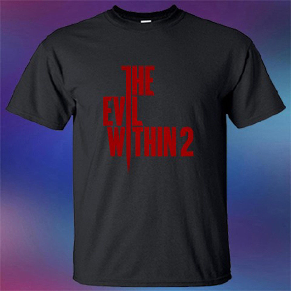 New The Evil Within 2 Famous Survival Horror Game Mens Black T-Shirt Size S-3XL 100% Cotton Short Sleeves T Shirts Top Tee
