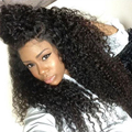 8A Kinky Curly Lace Front Human Hair Wigs 250% Density Full Lace Human Hair Wigs For Black Women Front Lace Frontal Wigs