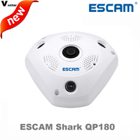 ESCAM Shark QP180 HD 960P H2 64 1 3MP 360 Degree Panoramic Fisheye Infrared Camera VR