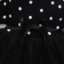 Long sleeve black and white dotted dress – multiple colors