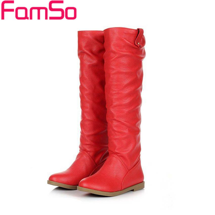 Plus Size34 41 2016 New Sexy Lady Winter Snow Boots Designer Long Knee High Boots Female