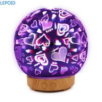LEPOID Aroma Essential Oil Diffuser Ultrasonic Air Humidifier for Home Fogger Mist Maker with LED Night Lamp 100ML