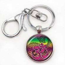Om Aum Ohm Buddha keychain Namaste Pendant Yoga Jewelry Hinduism Symbol Pendant Meditation Hindu Sweater keychain  for Women Men