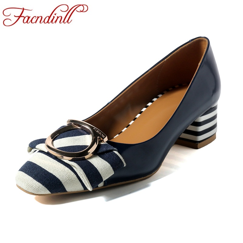 FACNDINLL shoes woman high heels pumps genuine leather new spring summer slip on classics shoes woman dress party pumps women