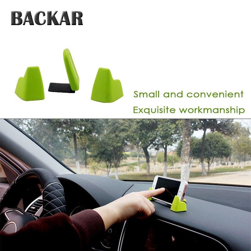 BACKAR רכב שלוש נקודות נייד טלפון מחזיק אוניברסלי עבור סוזוקי BMW אאודי אלפא רומיאו מיני קופר GPS ניווט מסגרת אבזרים