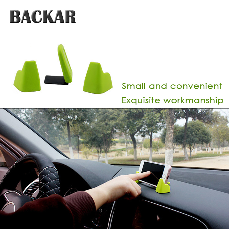 BACKAR Car Three-point Mobile Phone Holder Universal For Suzuki BMW Audi Alfa Romeo Mini Cooper GPS Navigation Frame Accessories