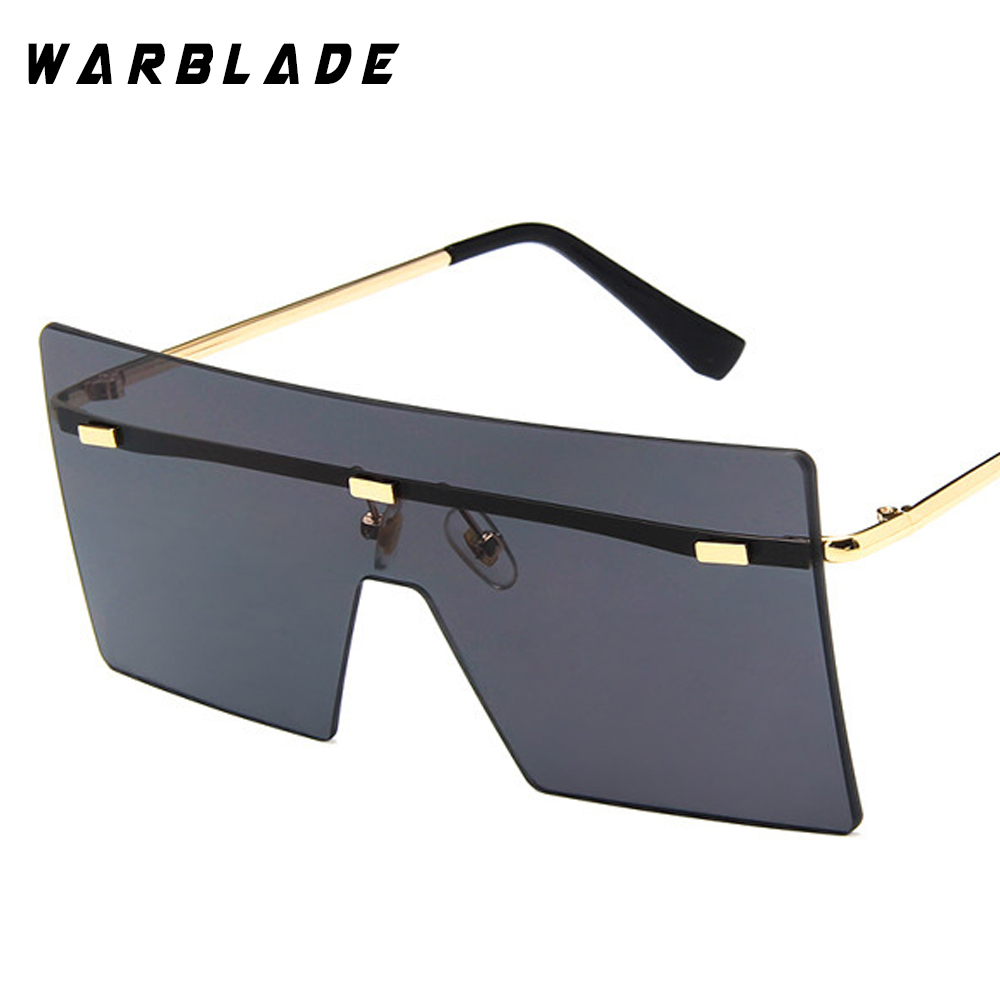 WarBLade böyük bir parça lens gözlük qadınlar kvadrat mavi - Geyim aksesuarları - Fotoqrafiya 6