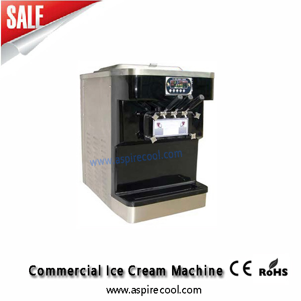 Soft Serve Ice Cream Machine Black Color Stainless Steel 220V/60Hz Specs For American Softy Ice Cream Making  недорого