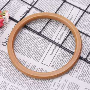 1pc Wooden Round Shaped Replacement Handbags Purse Handle