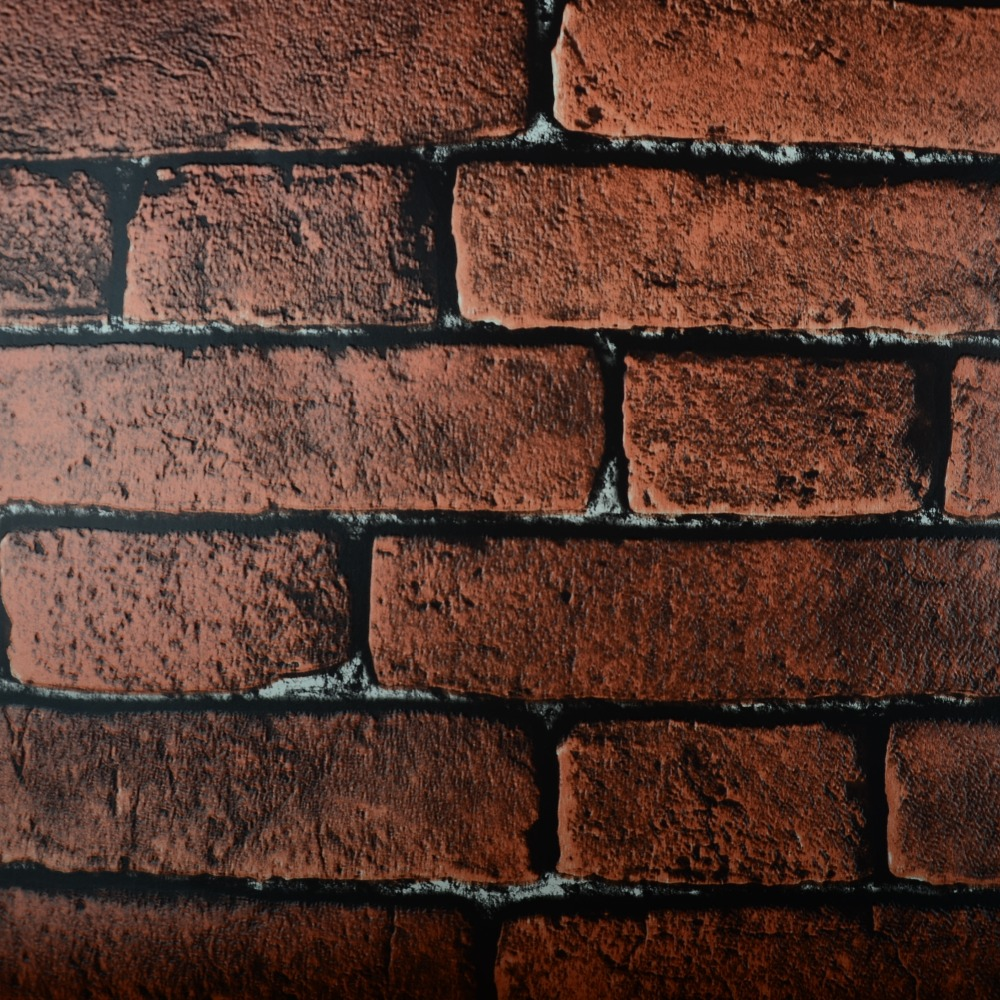 Red Vintage Brick Wallpaper 3D Textured Wall Paper Thick
