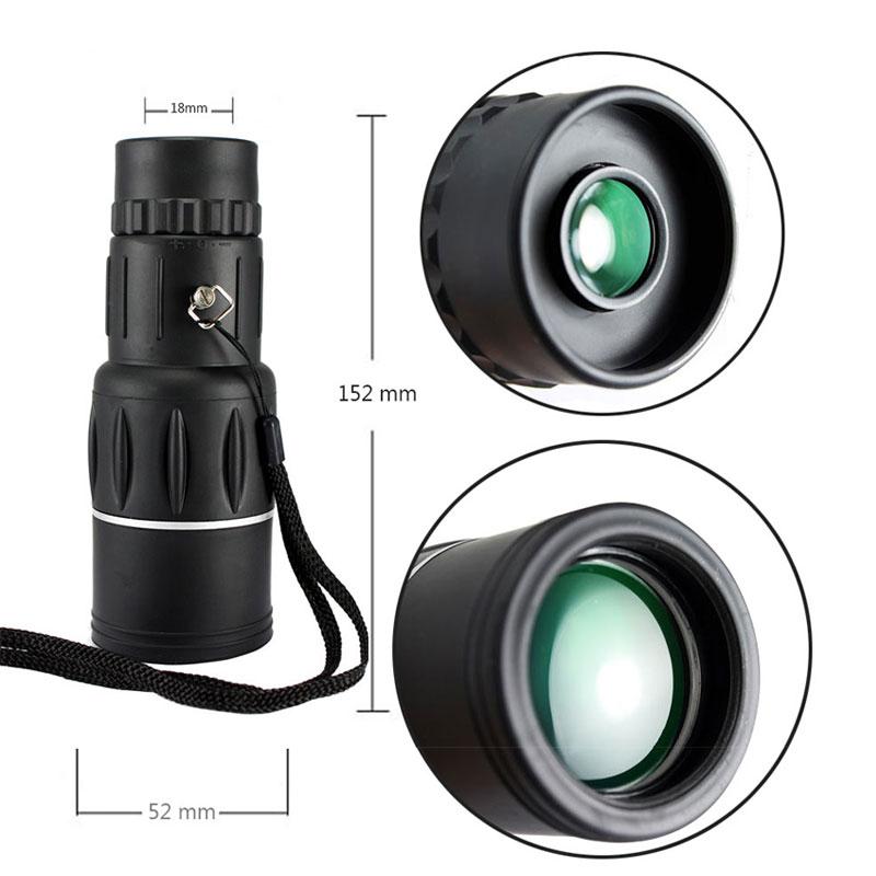16X52 Dual Focus Monocular Spotting Night Vision Telescope Zoom Optic Lens Binoculars Coating Lenses Hunting Optic Scope A