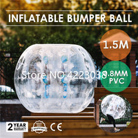 Free Shipping Bubble Football 0.8mm PVC 1.5M Bubble Soccer Ball Inflatable Ball Bumper Human Knocker Zorb Ball for Adult