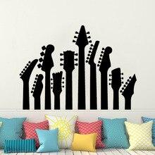 Guitar Wall Decal  Sticker Rock Metal Art Decor Vinyl Music Guitas Mural Home Decoration AY0223