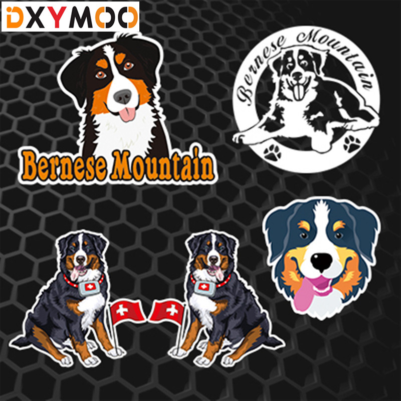 Animal Pet Dog Car Stickers Bernese Mountain Funny Auto Window Decals Car Styling 3M dad mom daugther son and pet dog funny car stickers family cartoon vinyl adhesive auto decal stickers