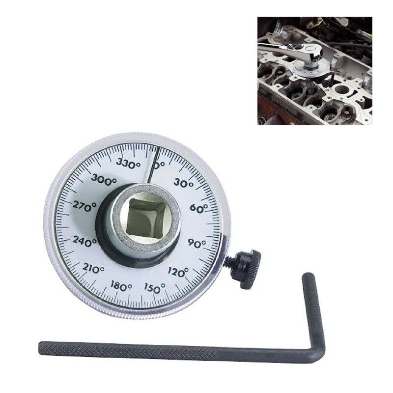 1//2/'/' Adjustable Drive Angle Gauge Torque Wrench Meter Measurer Car Garage Tool