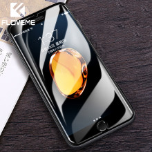 FLOVEME زجاج مقسى ل iPhone 7 8 Plus XS MAX XR X واقي للشاشة زجاج واقي على ل iPhone 6 6S 7 5 5s SE واضح فيلم(China)