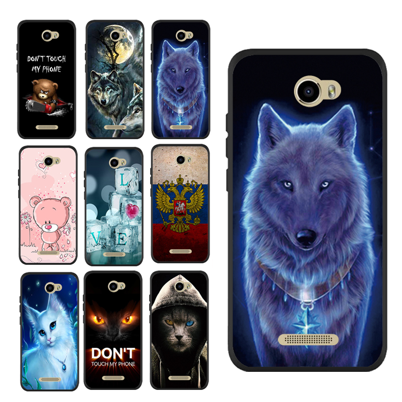 New Carton Wolf King Animal Paint Soft Case for DEXP BL250 Print Cover Housing Shell Printing Bag