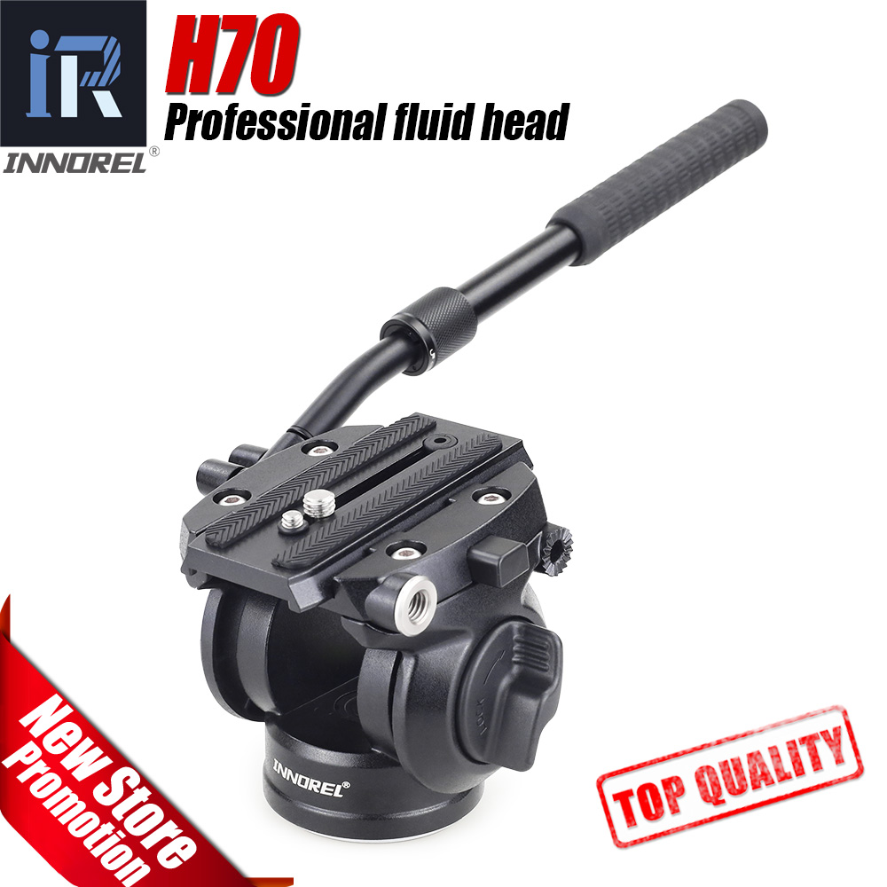 H70 Hydraulic Panoramic Camera Tripod Head Video Fluid Drag Pan Head for Canon Nikon Sony DSLR Camera Camcorder Shooting diat aluminum alloy tripod video monopod with fluid pan head 3 feet support unipod holder for canon sony nikon dslr