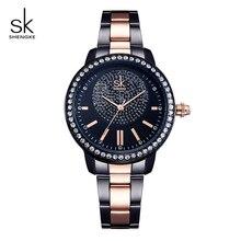 цена на Shengke Brand Crystal Ladies Wrist Watch Luxury Quartz Watch Women's Watch 2019 SK Bracelet Watches For Women relogio feminino