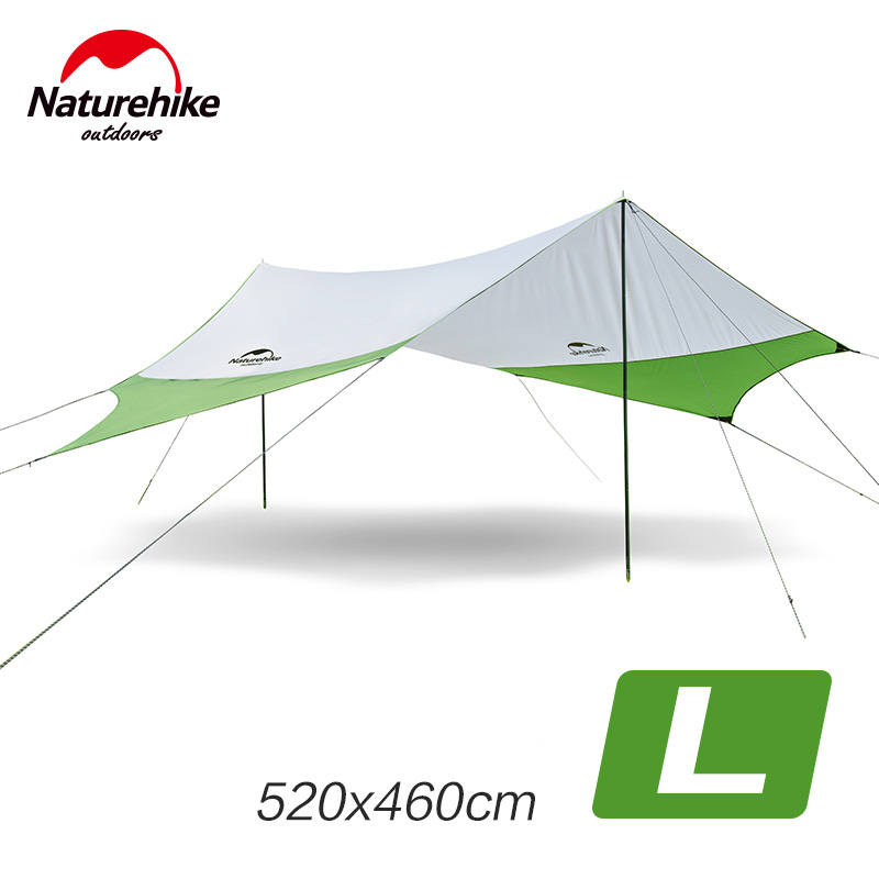 Naturehike Large Camping Tent Awning Beach Playing Games Fishing Hiking Outdoor 5 Person Tent NH16T013-S NH16T012-S outdoor camping hiking automatic camping tent 4person double layer family tent sun shelter gazebo beach tent awning tourist tent