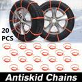 20PCS Car Universal Mini Plastic Winter Tyres Wheels Anti-Skid Snow Chains For Car-Styling