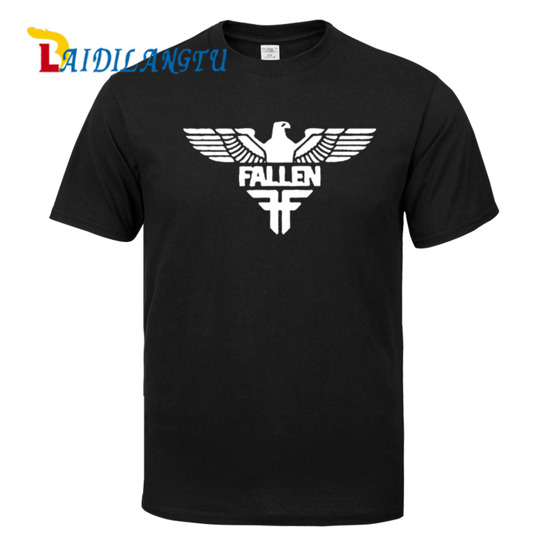 Fashion Fallen Eagle   T     Shirts   Streetwear Cotton   T  -  shirts   Tops Tees Free Shipping Male Quality Print High Quality Tshirts