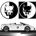1PC 2016 PITBULL Car Motorcycle Stickers Reflective Vinyl Styling3D Dog Funny Car Stickers Car Styling Decals For Audi Stickers
