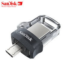Sandisk USB Flash Drive 128GB 64GB 32GB 16GB Dual OTG Pen Drive High Speed Memory U Disk Micro USB3.0 Card SDDD3 For Phone or PC