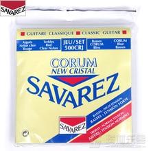 Savarez Classical Cristal Corum Standard/High Tension Set, .028 – .043 Classical Guitar String 500CRJ