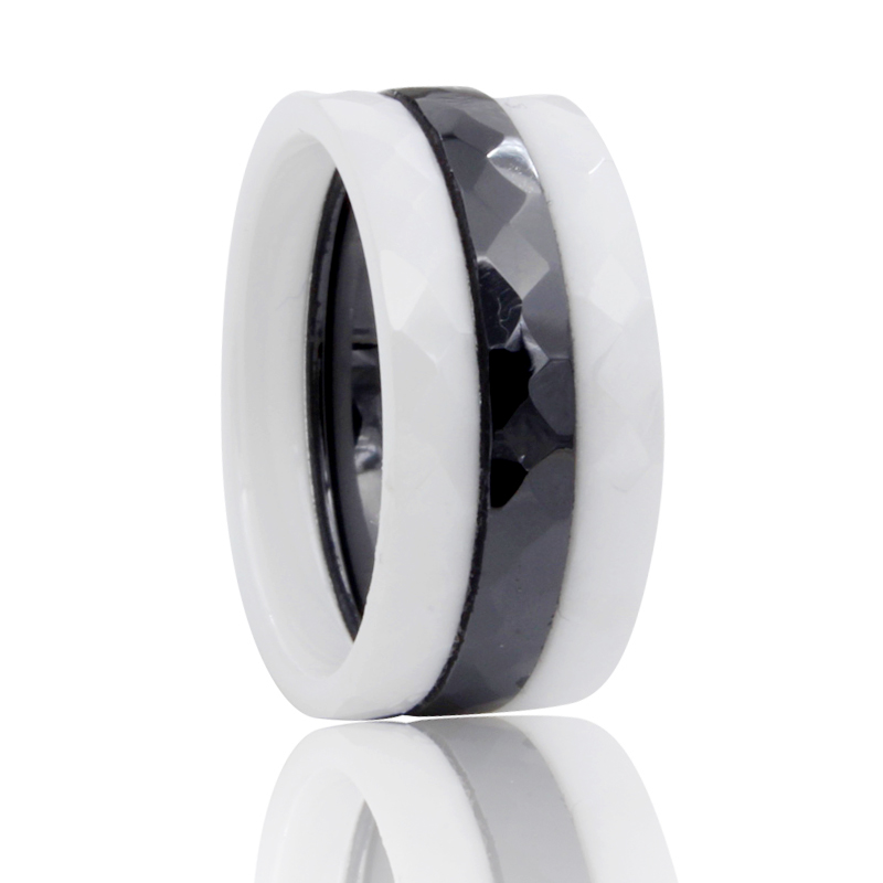 Love Rings For Black And White Ceramic Ring Men Women Engagement Promise Wedding Band Gifts For