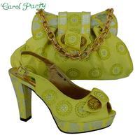 Nueva llegada de la alta calidad de Diseño italiano zapatos y bolsos a juego para la boda 11 cm Zapatos de tacón alto CP63005
