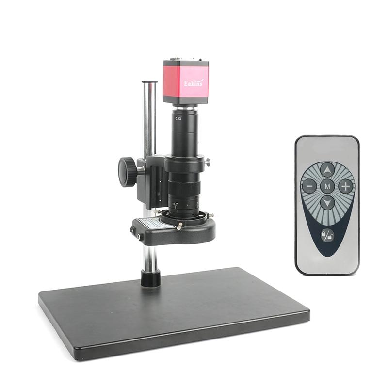 13MP HDMI VGA Industrial Camera 720P 60F/S Microscope Camera IR Remote Control+180X/300X Zoom Lens Camera Set For PCB Resolder