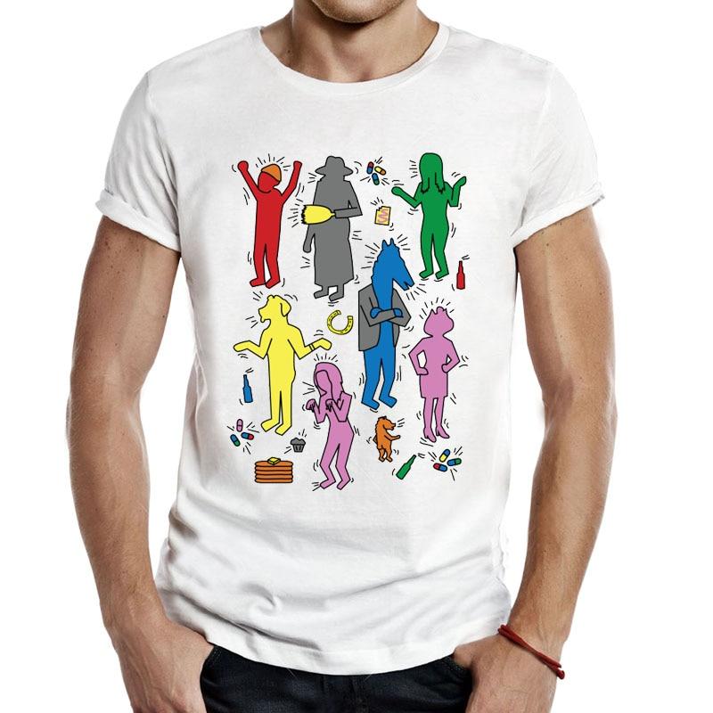 Bojack Horseman Keith H Bojack T-Shirt pop kultur farbe keith haring verein kunst vincent adultman bojack T Shirts Unisex 261