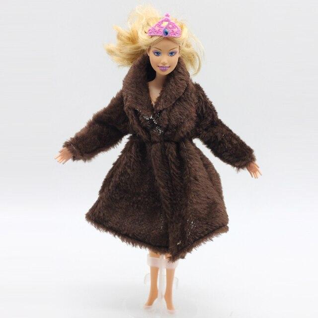 el precio más bajo venta de descuento precio moderado € 2.35 |Marrón oferta especial moda invierno abrigos grandes original ropa  para muñeca Barbie 1/6 ropa vestido ocio en Muñecas de Juguetes y aficiones  ...