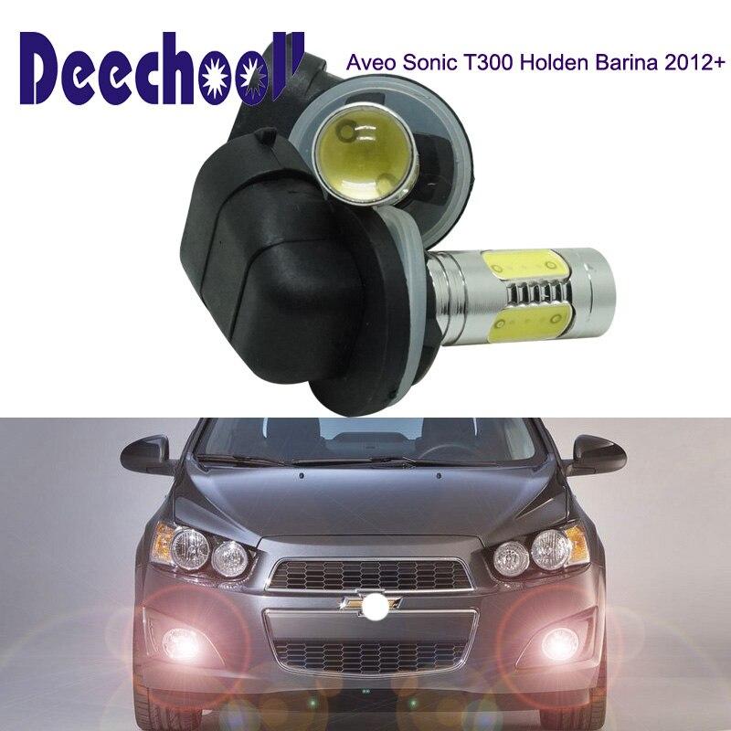 Deechooll 2 pcs 881 Voiture LED Lumière pour Chevrolet Aveo Sonic T300 Holden Barina 2012 +, Canbus 7.5 W H27W/2 7.5 W Auto Brouillard lumière ampoules
