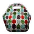 100% neoprene lancheira bolsa termica pequeno almoço isolados sacos bolsa térmica lancheira com com zíper para mulheres refrigerador do piquenique caixa